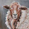 Schaf, Schafbild, Bauernhoftiere, Malerei