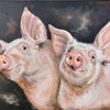 Ferkel, Schwein, Malerei