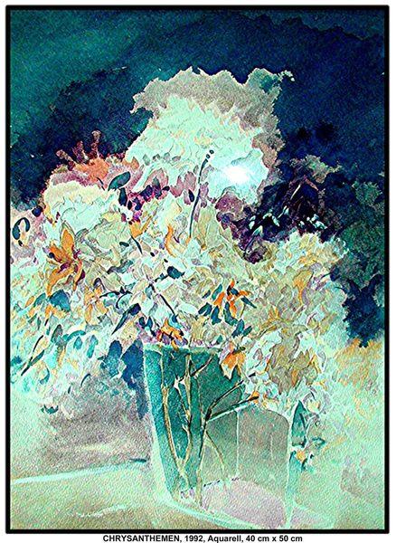 Reinbek, Aquarellmalerei, Malerei, Blumen, Hamburg, Blüte