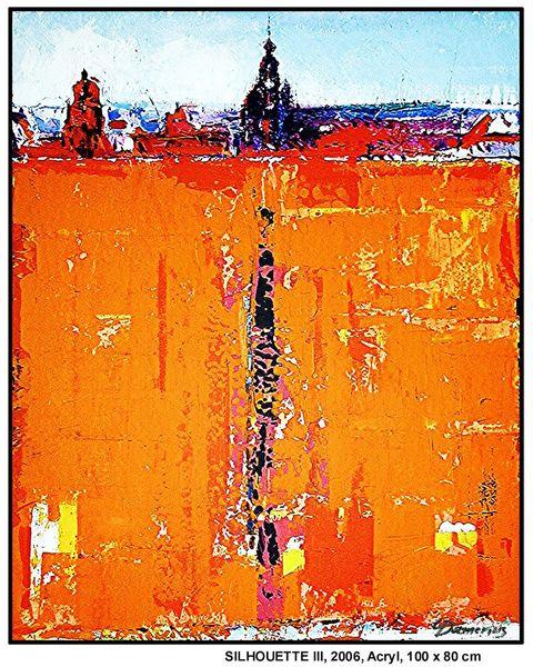 Moderne kunst, Deutschland, Menschen, Malerei, Ferne, Abstrakt