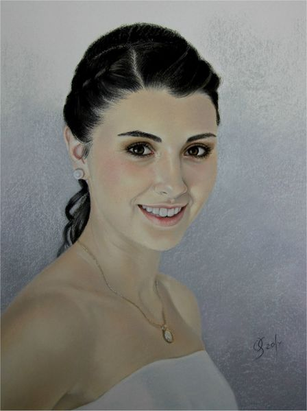 Portrait, Menschen, Frau, Portrait in pastell, Portrait nach foto, Zeichnungen