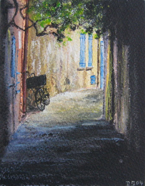 Tropez, Romantik, Italien, Fahrrad, Gasse, Sommer