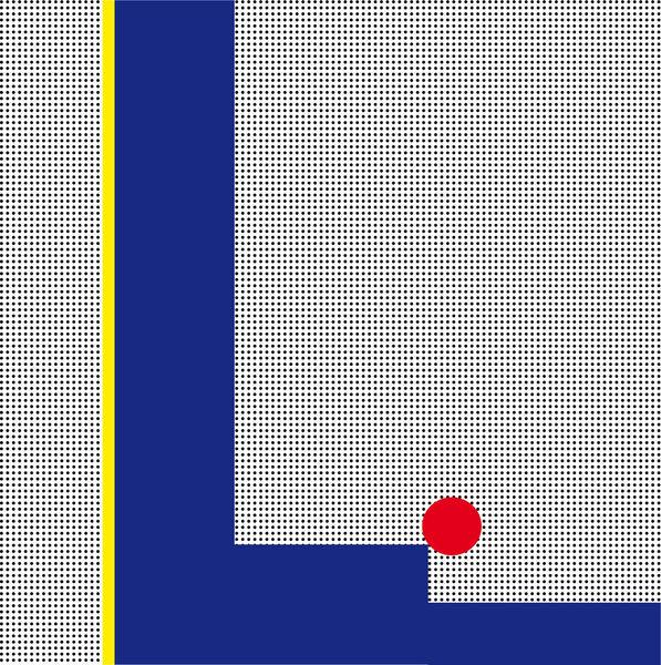 Konkrete kunst, Concrete art konkret, Malerei, Rouge,