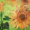 Bayer, Sonnenblumen, Sommer, Malerei