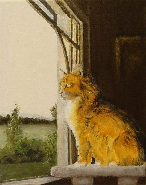 Kater, Acrylmalerei, Katze, Malerei