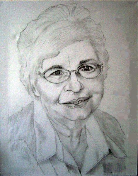 Frau, Portrait, Malerei, Menschen