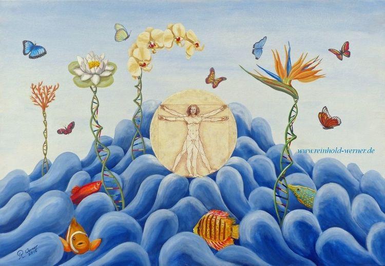 Fisch, Schmetterling, Meer, Da vinci, Bird of paradies, Ursprung