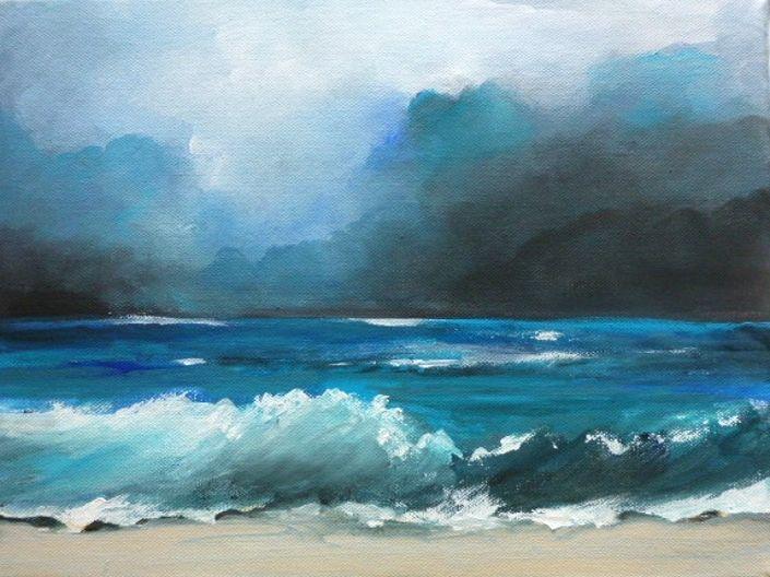 Welle, Meer, Wolken, Türkis, Blau, Landschaft
