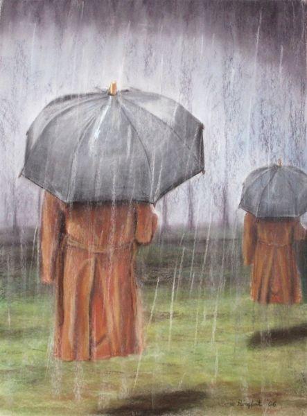 Regenmacher, Pastellmalerei, Zeichnungen