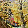 Herbst, Jahreszeiten, Ölmalerei, Ernsttal