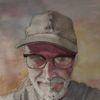 Selbstportrait, Brille, Aquarellmalerei, Selfie
