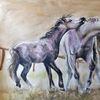 Malerei, Pferde, Natur, Züchten