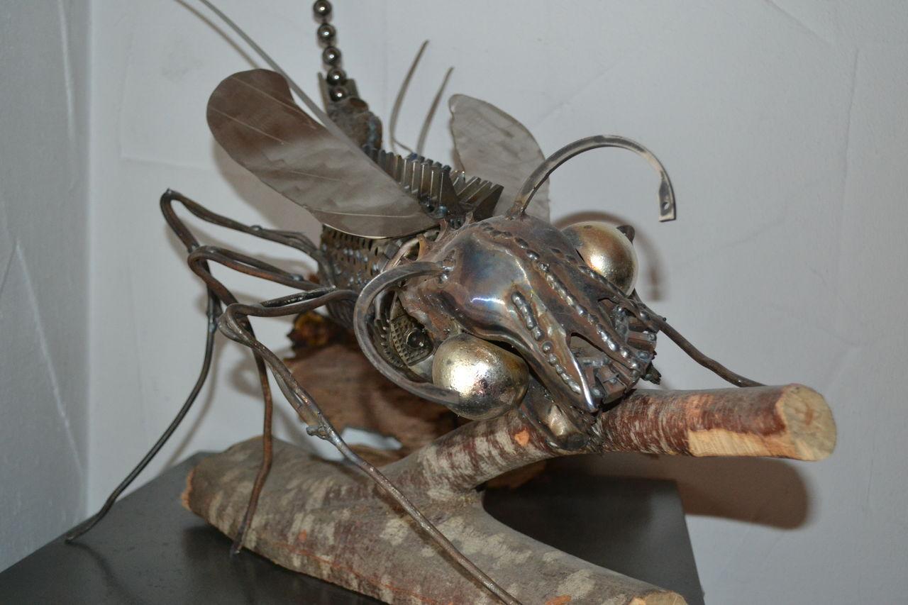 holzfresser insekten holzfresser kunst aus schrott. Black Bedroom Furniture Sets. Home Design Ideas