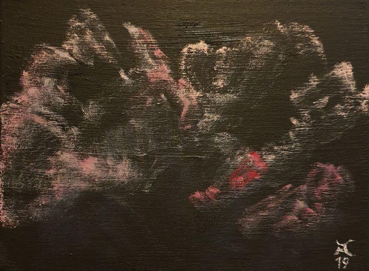 Erscheinung, Hagebutte, Rosa, Malerei, Serie, Abstrakt