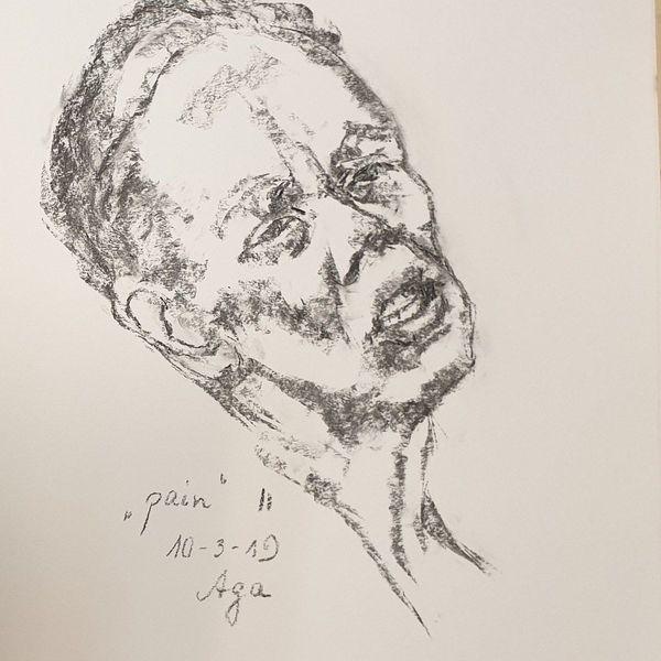 Holzkohle, Schmerz, Frau, Zeichnungen