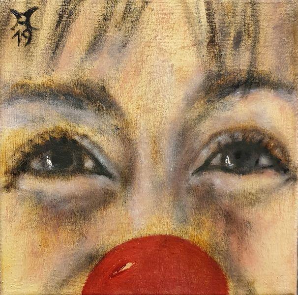Clown, Blick, Malerei