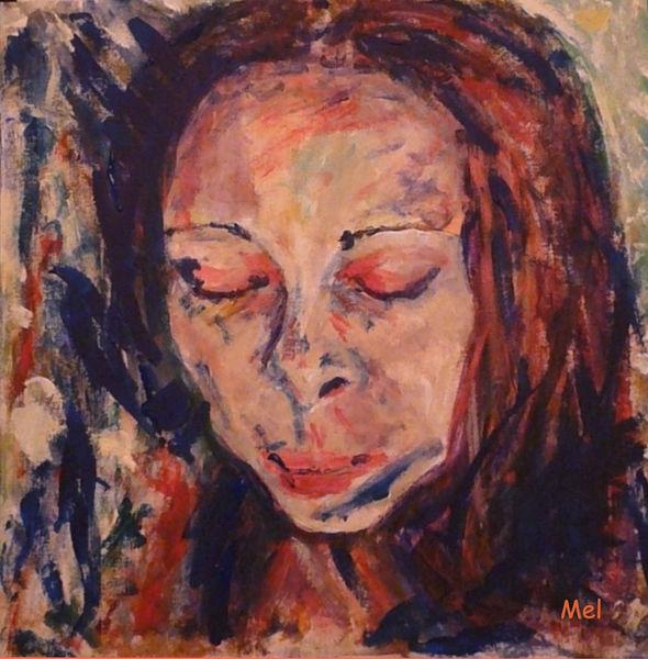 November, Gesicht, Malen, Portrait, Die frau, Malerei