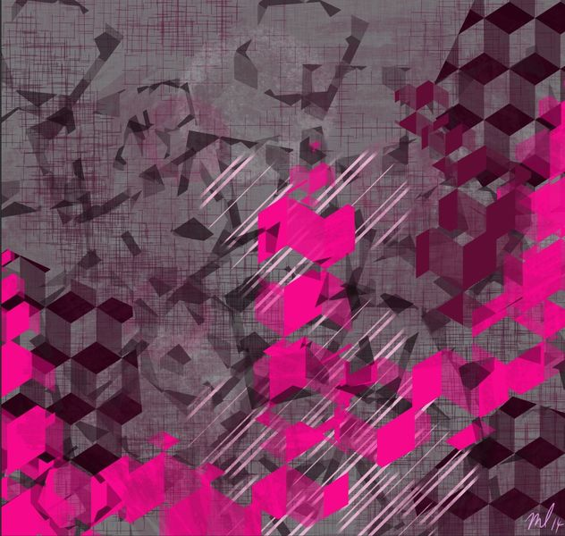 Digitale kunst, Pink, Grau, Dekoration, Abstrakt