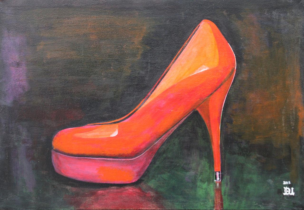Bild schuhe acrylmalerei malerei stillleben von dieter