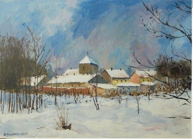 Malen, Winter, Dekoration, Blau, Arrangement, Himmel