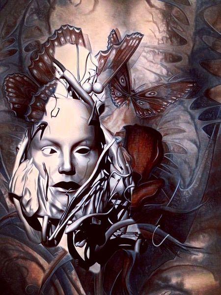 Verwandlung, Relativ, Komposition, Verknüpfung, Digitale kunst, Homo