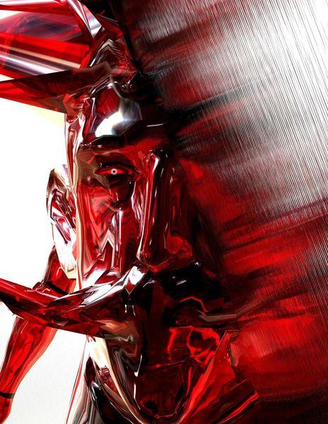 Identität, Funktion, Zum surrealismus, Teufel, Digitale kunst
