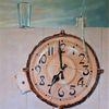 Glas, Vergänglichkeit, Wasser, Uhr