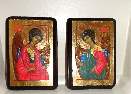 Ikonen, Heilger gabriel, Heilger michael, Religion orthodox, Malerei