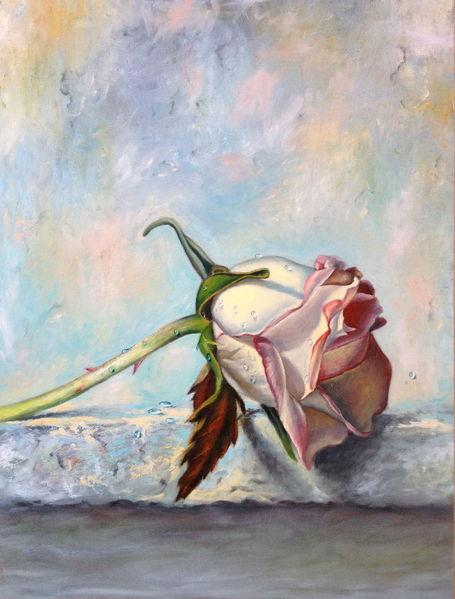 Stillleben, Rose, Malerei