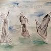 Bewegung, Tanz, Aquarellmalerei, Aquarell