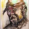 Bürgerkrieger, Skizze, Portrait, Gouachemalerei