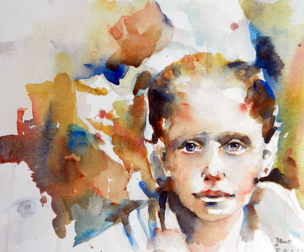 Aquarell, Portrait