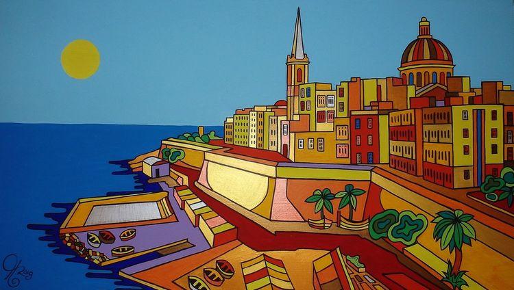 Valletta, Gürtel, Malta, Malerei, Il