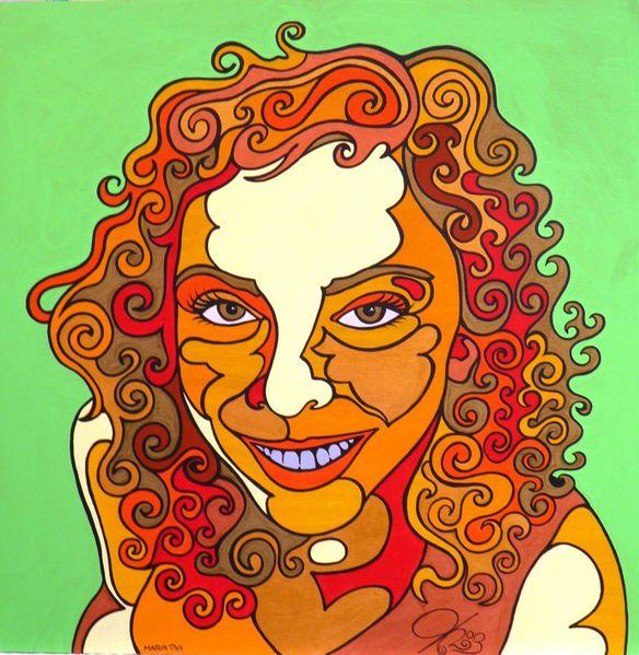 Maria pia, Malerei