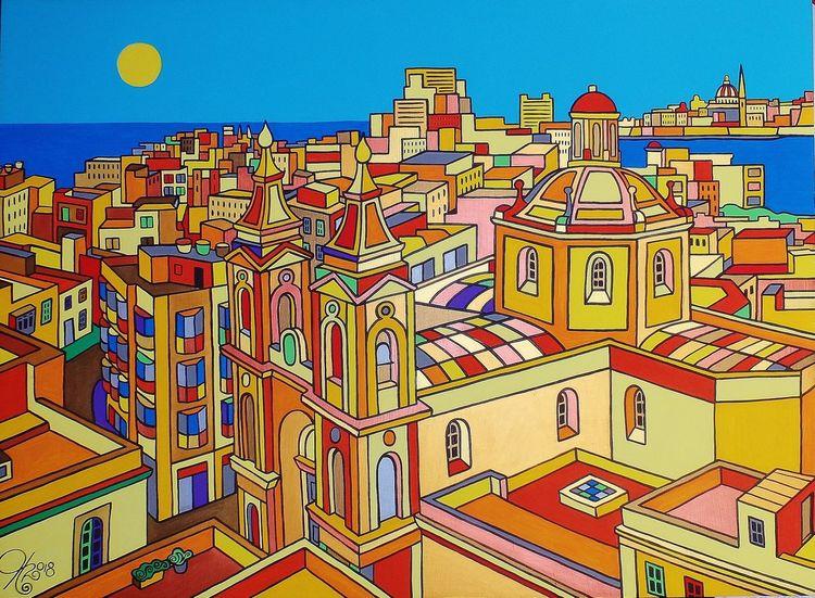 Maris, Valletta, Malta, Malerei,