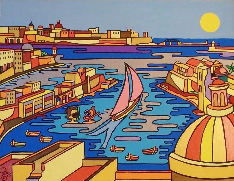 Valletta, Grand harbor, Kalkara, Birgu, Senglea, Malta
