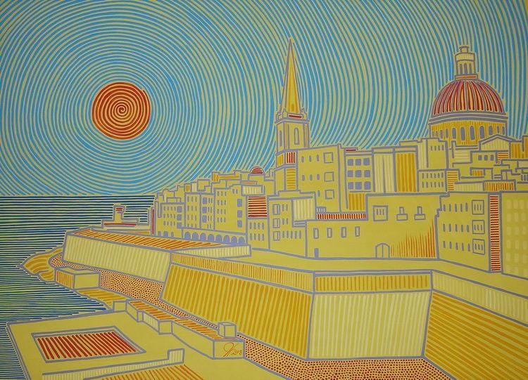 Valletta, Malta, Sliema, Malerei, Gelb
