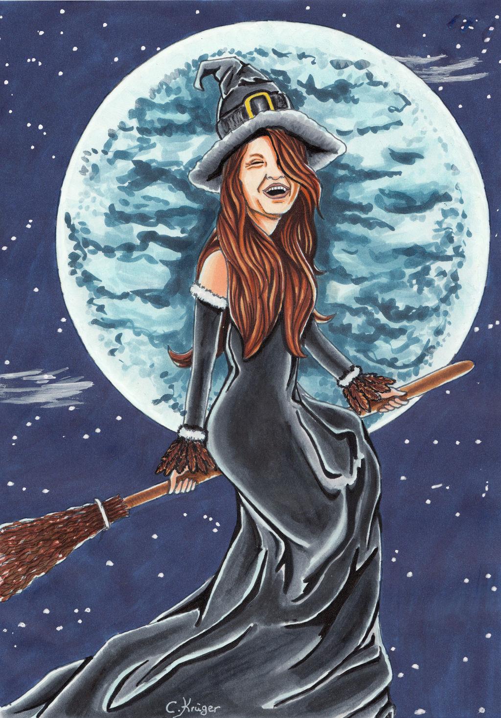 Bild: Hexe, Karneval, Illustrationen, Comic von Thalyndra bei KunstNet