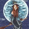 Hexe, Karneval, Illustrationen
