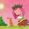 Mädchen, Kinderbild, Illustration, Lesen