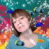 Selbstportrait, Fische, Unterwasser, Pinnwand