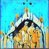 Malerei, Schwarzlicht, Acrylmalerei, Menschen ansammlung