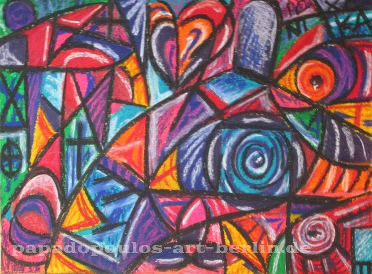 Tür, Gelb, Abstrakt, Herz, Bunt, Lila