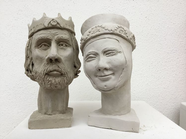 Paar, König, Figurativ, Geschichte, Keramik, Mittelalter