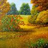 Baum, Laub, Herbst, Gras