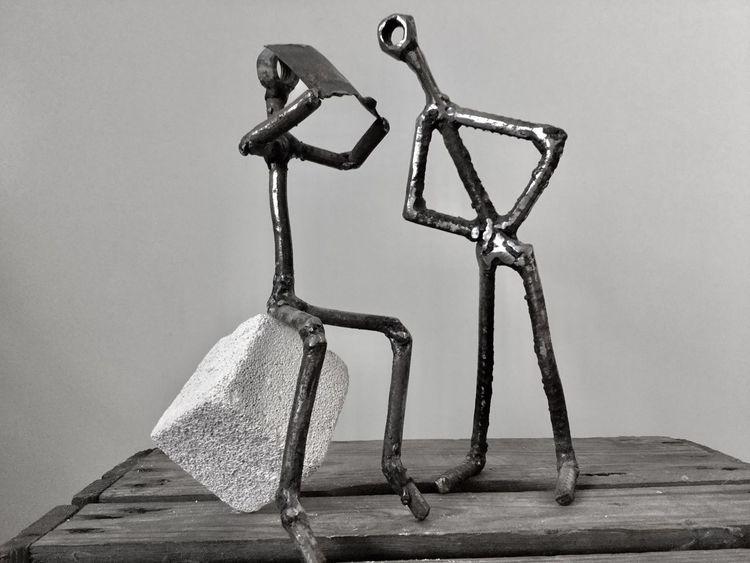 Surreal, Skulptur, Metall, Kunsthandwerk