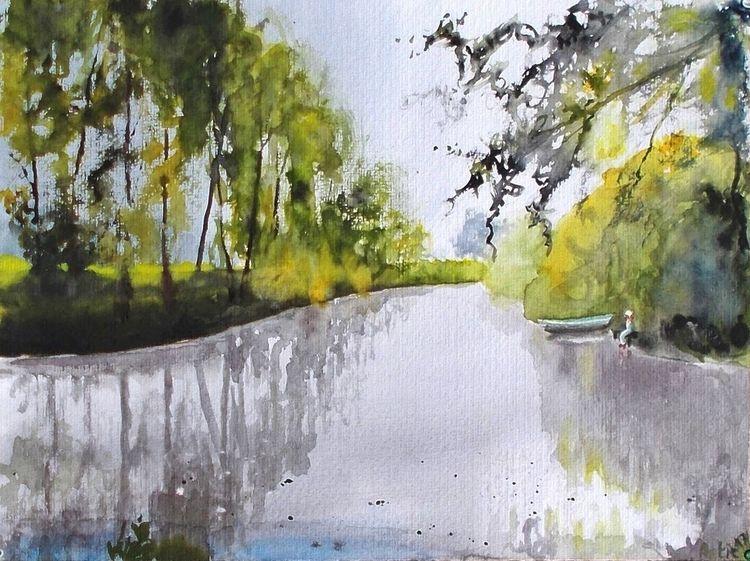 See, Menschen, Baum, Gewässer, Bootsanleger, Fluss