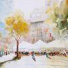 Baum, Café, Stadt, Menschen