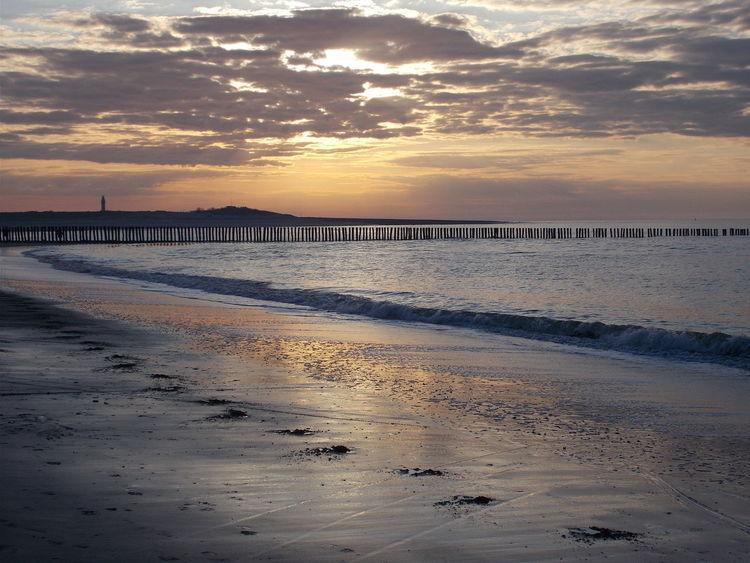 Sonnenuntergang, Strand, Niederlande, Nieuwvliet, Küste, Fotografie