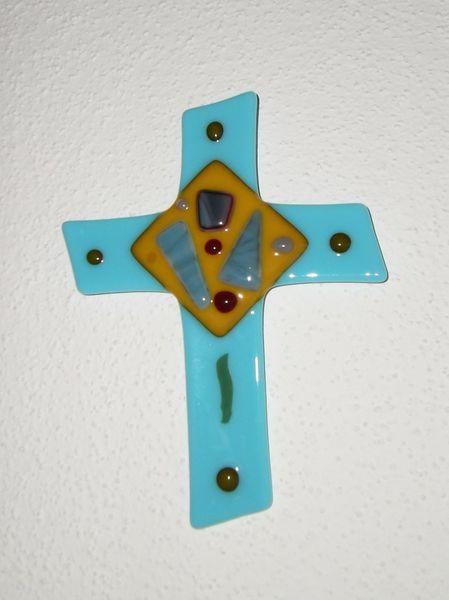 Kreuz, Fusing, Glas, Glaskreuz, Kunsthandwerk